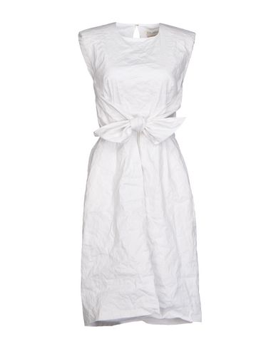 GALITZINE Knee-Length Dress in White