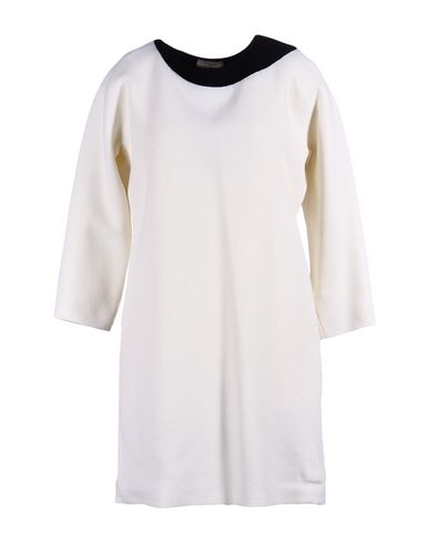 BOUCHRA JARRAR Short Dress in Ivory