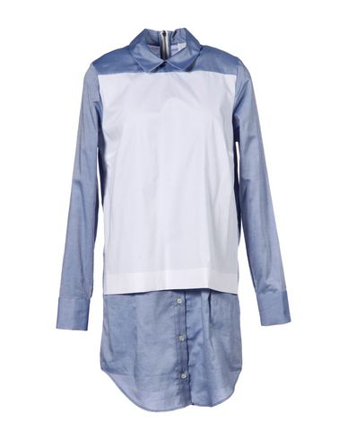 THAKOON ADDITION Shirt Dress in Sky Blue