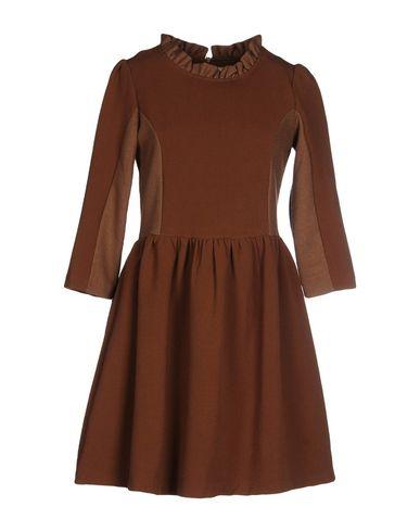 BONSUI Short Dress in Brown