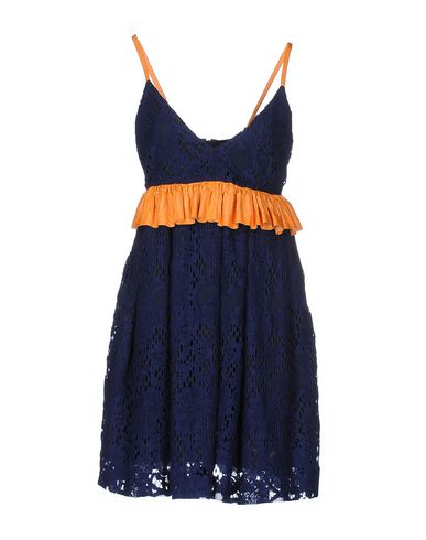 MSGM SHORT DRESS, DARK BLUE