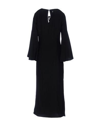 DONDUP LONG DRESS, BLACK