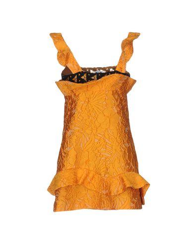 MSGM FORMAL DRESS, ORANGE