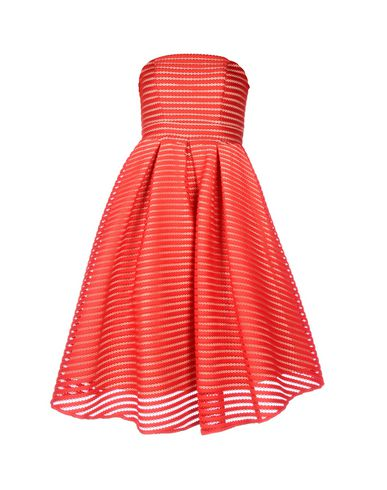 FOREVER UNIQUE Knee-Length Dress in Red