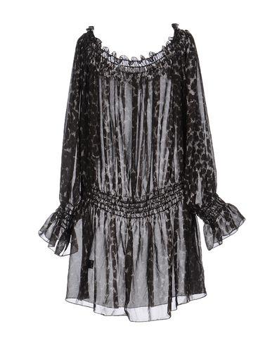 NORMA KAMALI SHIRT DRESS, STEEL GREY