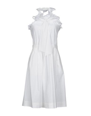 BOUTIQUE MOSCHINO KNEE-LENGTH DRESS, WHITE