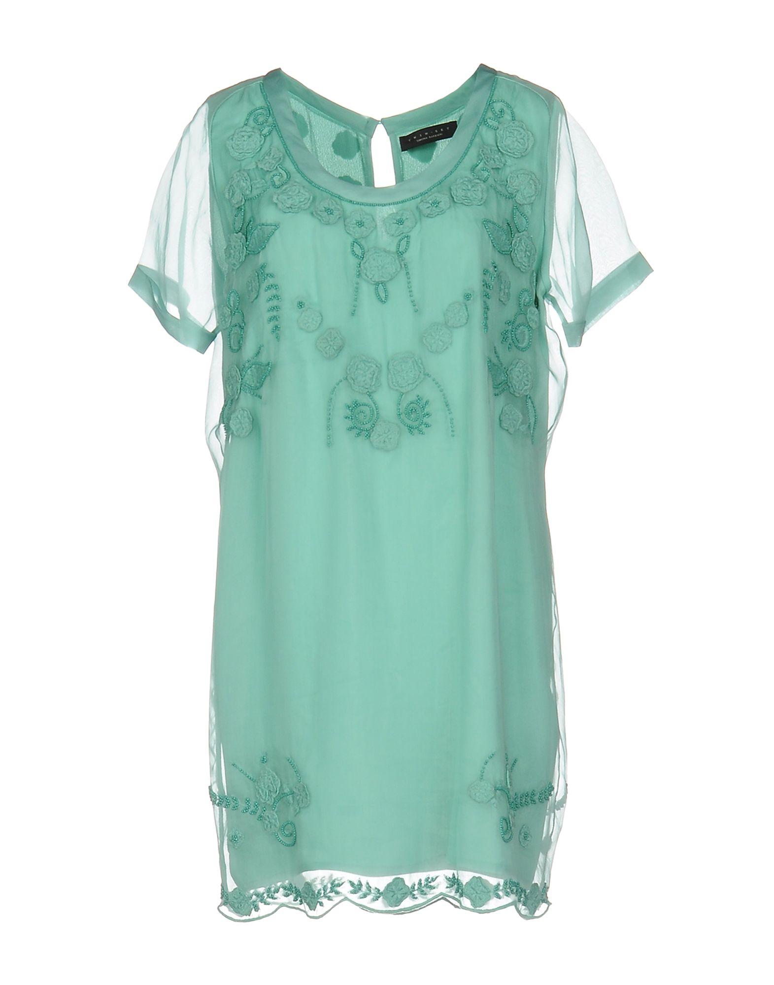 Twin Set Simona Barbieri Sale Dresses Blue Top Women Yoox United States