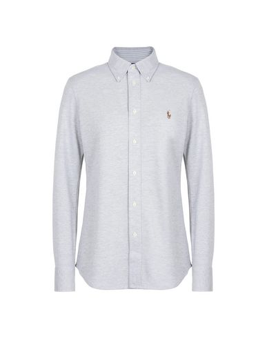 57daf99198ab5 POLO RALPH LAUREN. Slim Fit Knit Cotton Oxford Shirt. Solid colour shirts    blouses