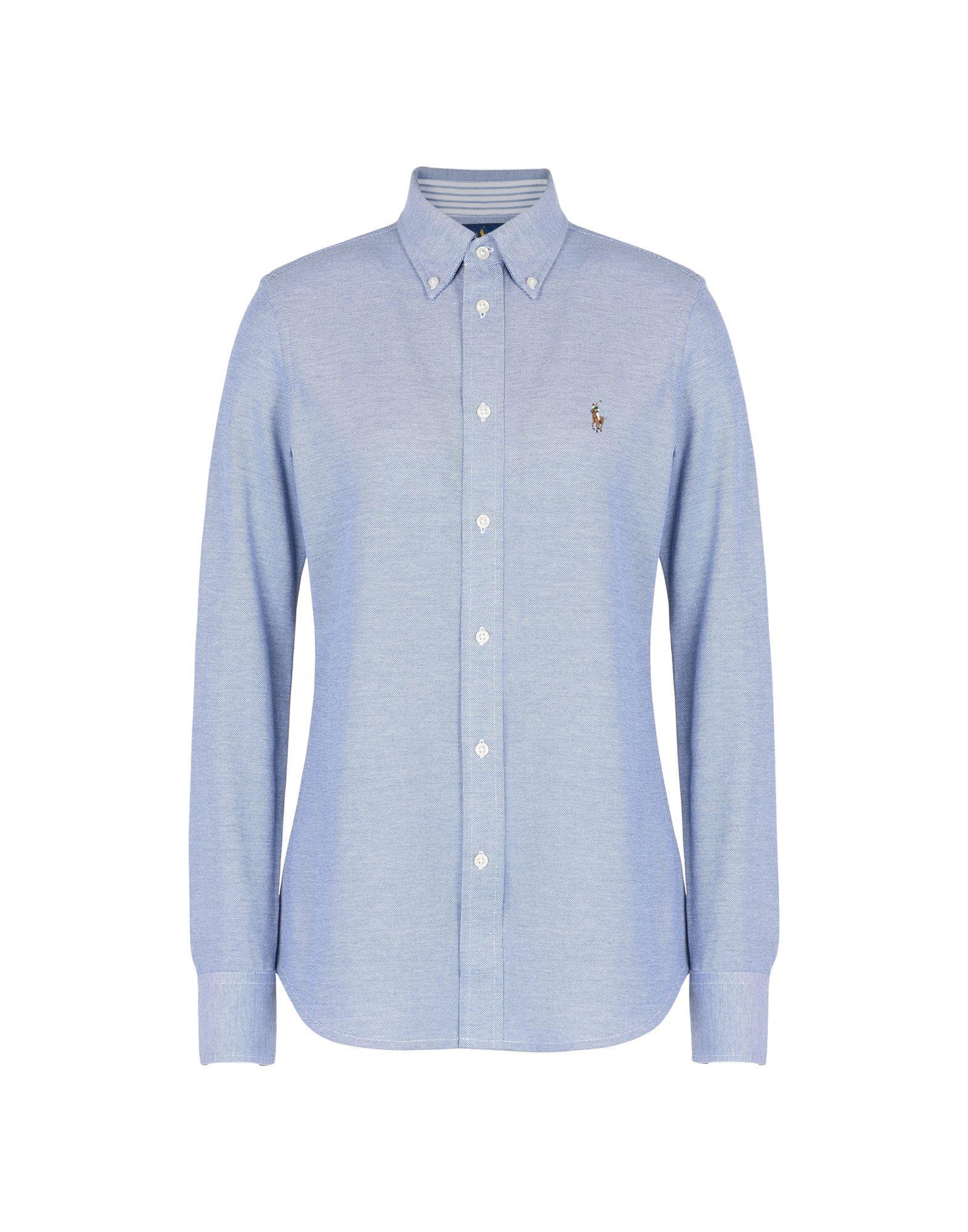 Camicie E bluse Tinta Unita Polo Ralph Ralph Lauren Slim Fit Knit Cotton Oxford Shirt - donna - 34725836CN  Hersteller direkte Versorgung