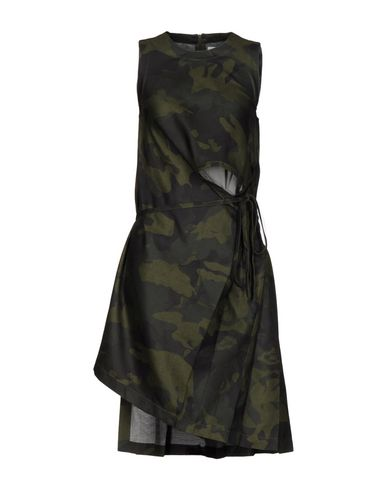 MARIOS Short Dress in Military Green