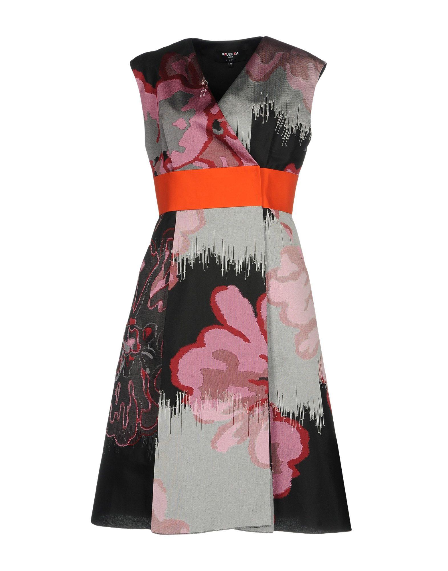 Robes Aux Genoux Paule Ka Femme Collections Printemps-Été et Automne-Hiver,  plein de promotions en ligne sur YOOX
