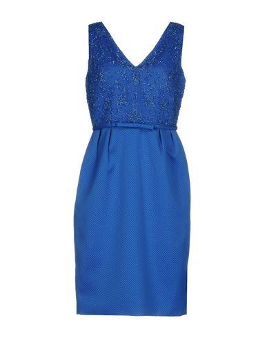 Rosa Électrique Clará Aux Bleu Genoux Robe gw8Xg