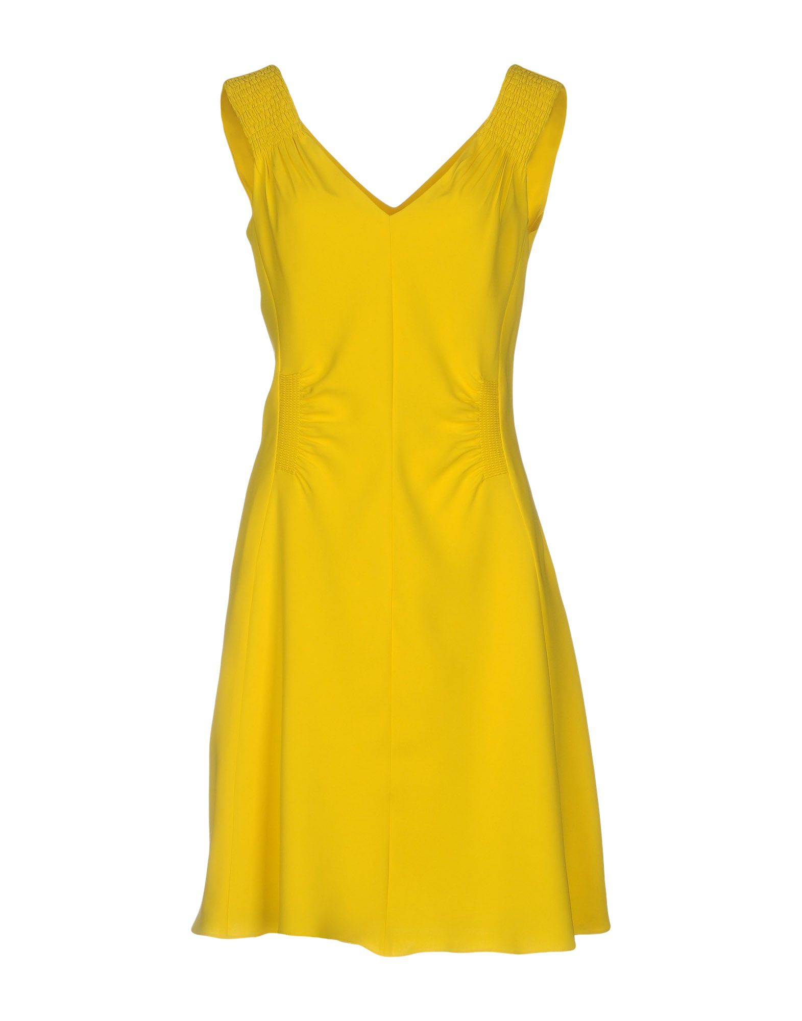 Dress for Women, Evening Cocktail Party On Sale, Yellow, Cotton, 2017, 10 6 8 P.A.R.O.S.H.
