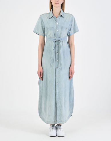 POLO LAUREN POLO Denim RALPH RALPH LAUREN Hemdblusenkleid Shirtdress Denim Pqp6xPz
