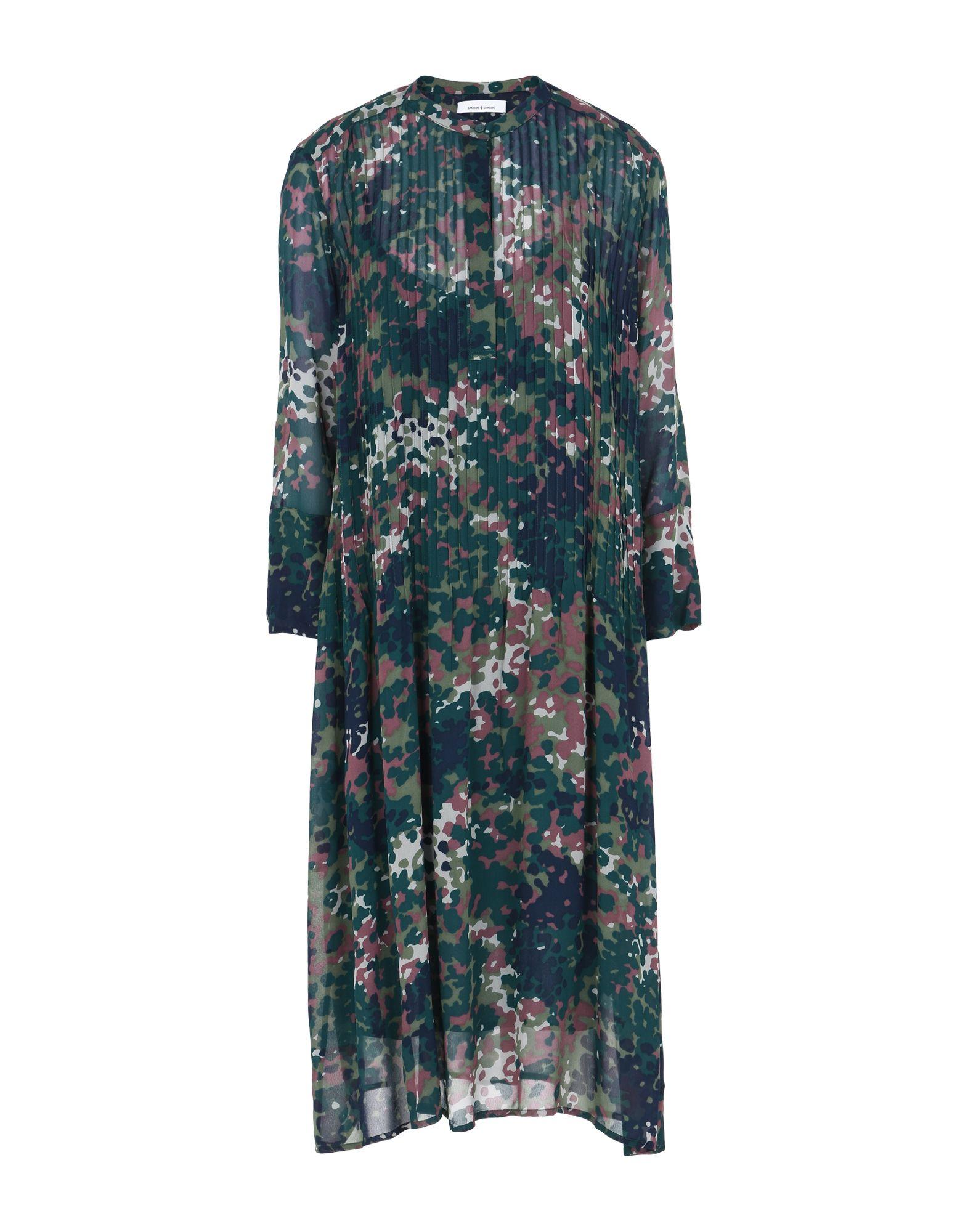Samsøe Φ Samsøe Elm Shirt Dress Aop 9695 - Knielanges Kleid Damen ...