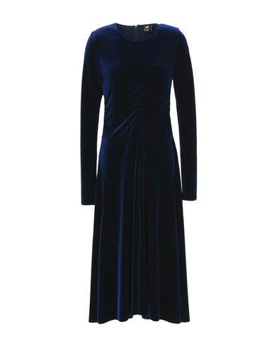 LE COL Midi Dress in Dark Blue