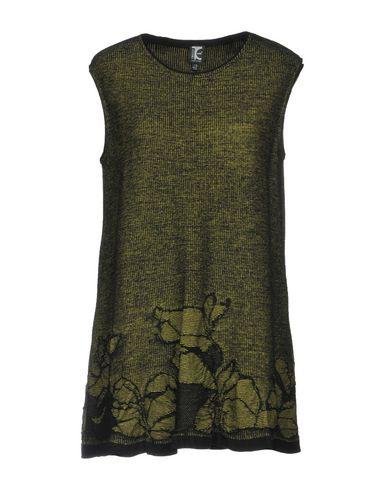 Tricot Chic Courte Robe Acide Vert rrwadH