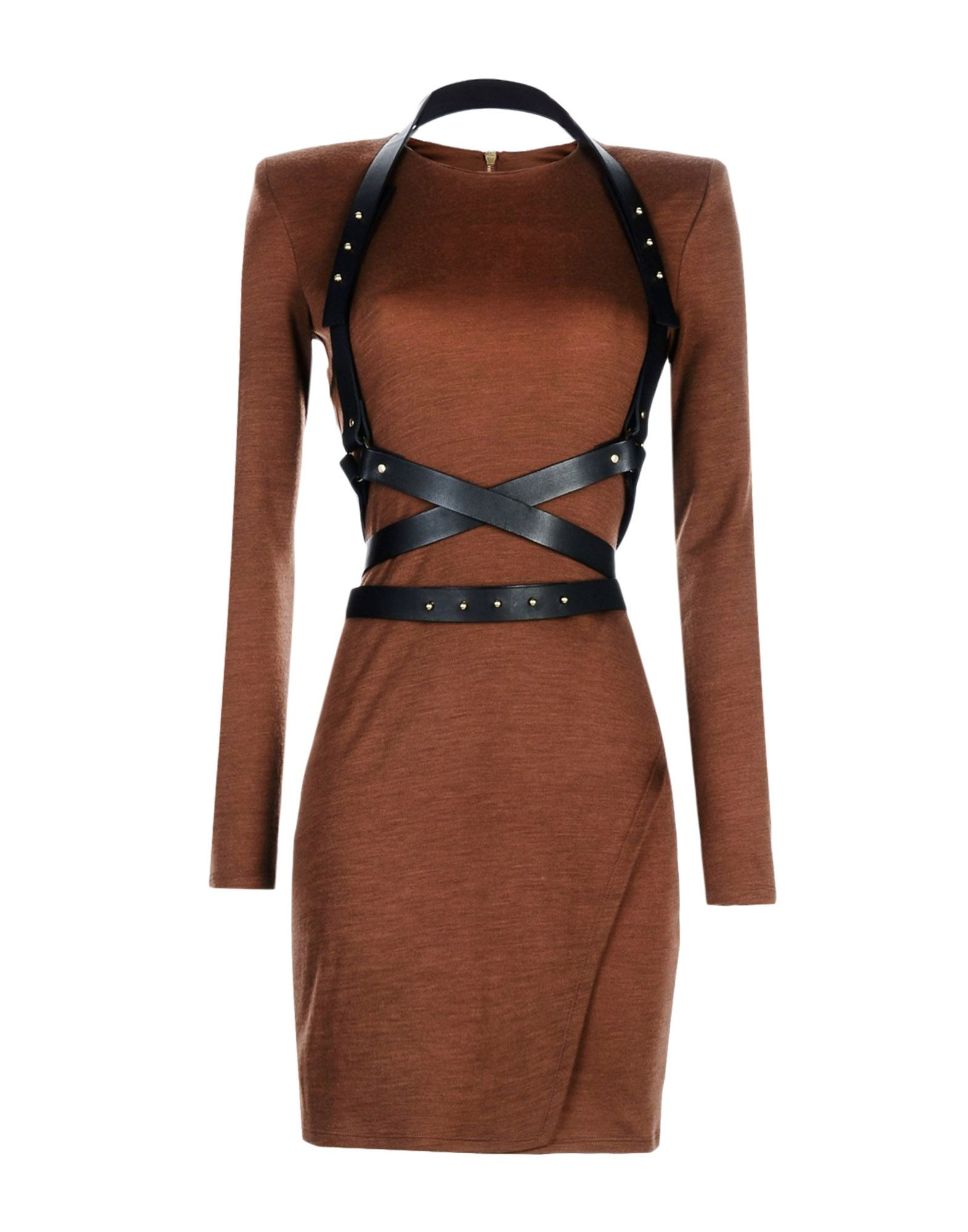 outlet lace up in well known BALMAIN Knit dress - Dresses   YOOX.COM