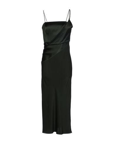 TOPSHOP UNIQUE Midi Dress in Dark Green
