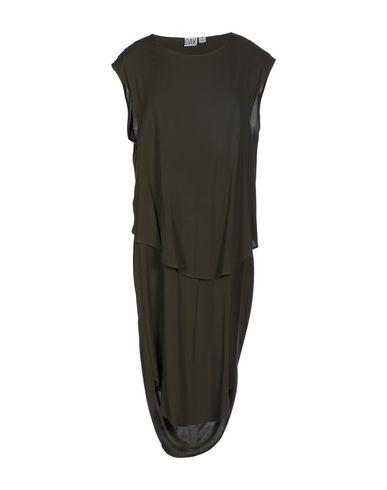 OAK Midi Dress in Dark Green