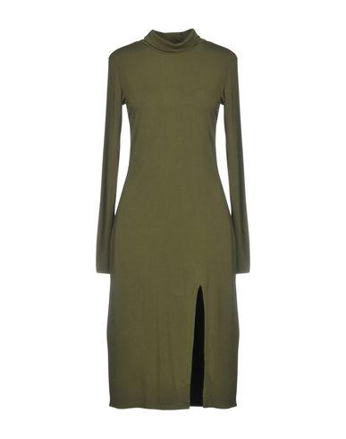 BOBI Knee-Length Dress in Military Green
