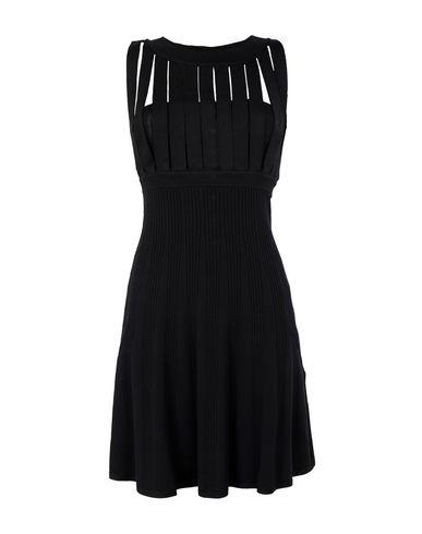 Sleeveless Strap-Cutout Dress in Black