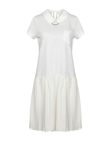 SACAI LUCK Short Dress in White