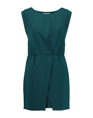 HALSTON Short Dress in Deep Jade