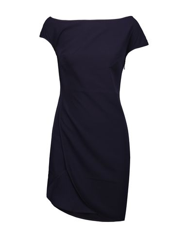 HALSTON Short Dress in Dark Blue
