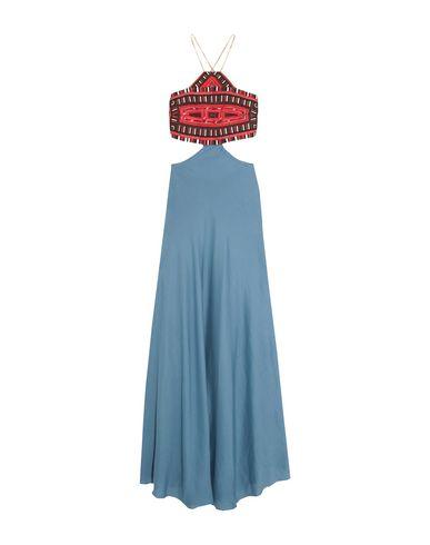 CELIA DRAGOUNI Long Dress in Slate Blue