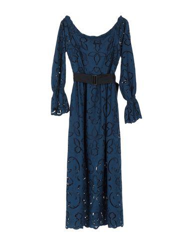 PERSEVERANCE Midi Dress in Dark Blue