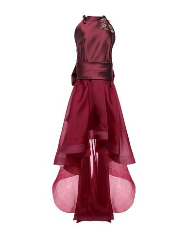 IO COUTURE Knee-Length Dress in Maroon