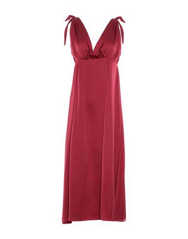 GOLDIE LONDON Midi Dress in Maroon