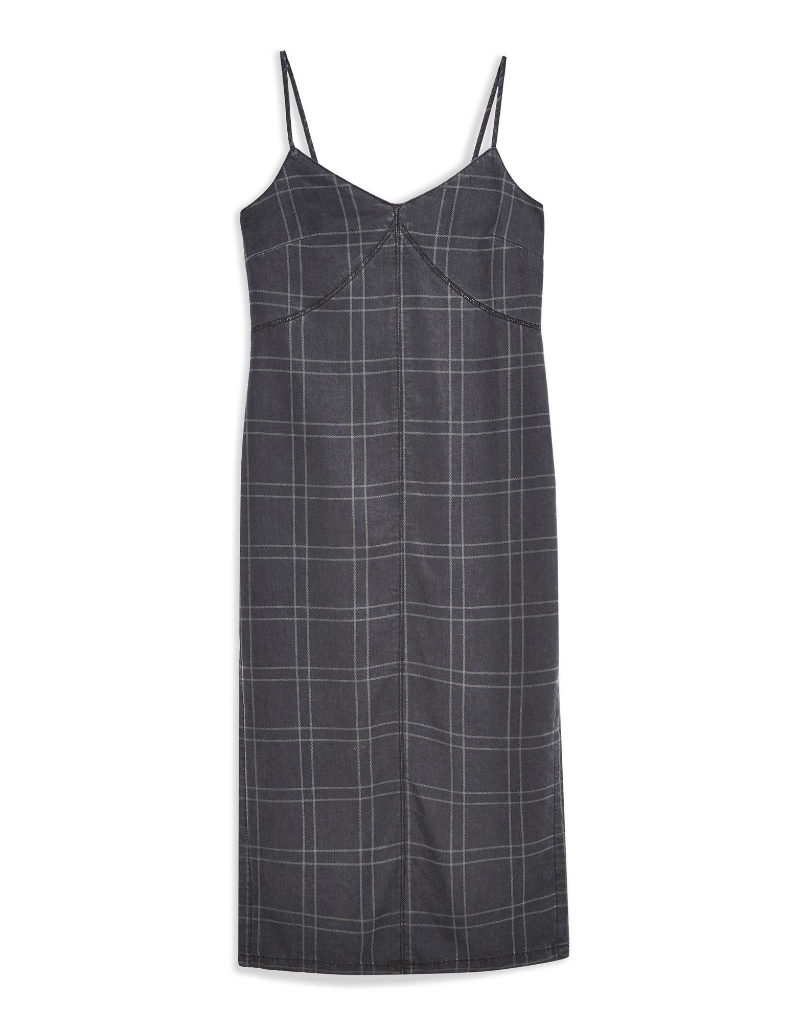 Vestito Longuette Topshop Check Check Check Denim Midi Dress - donna - 34950435FT b75