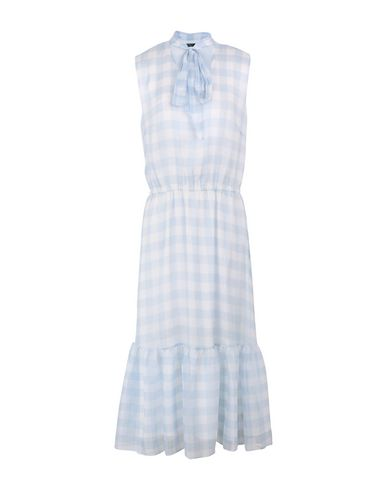 ef8ad9d1 Gingham Tie Neck Dress - Платье Длиной 3/4 Для Женщин от Lauren ...