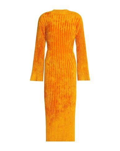 Pringle Of Scotland Midi Dress In Orange
