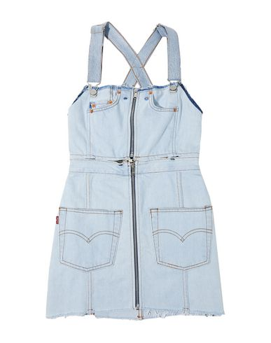 Re/done With Levi's Denim Dress In Blue