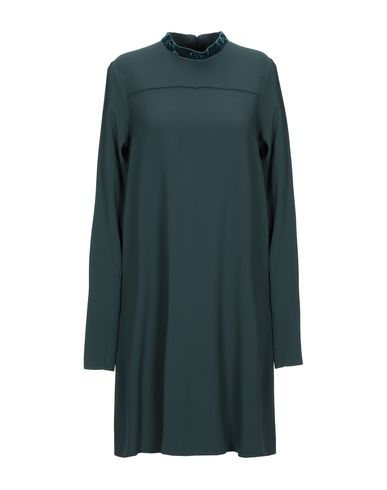 Antonelli Short Dress In Dark Green