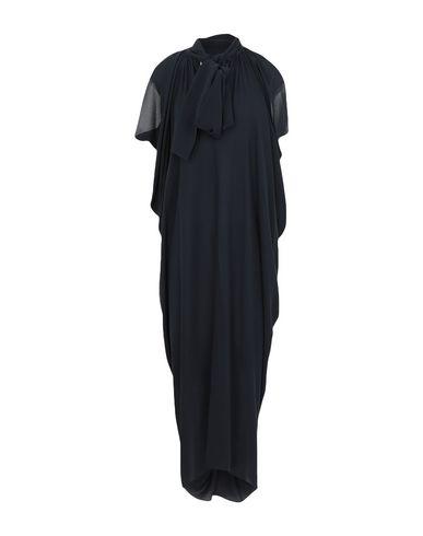 Michael Kors Long Dress In Dark Blue