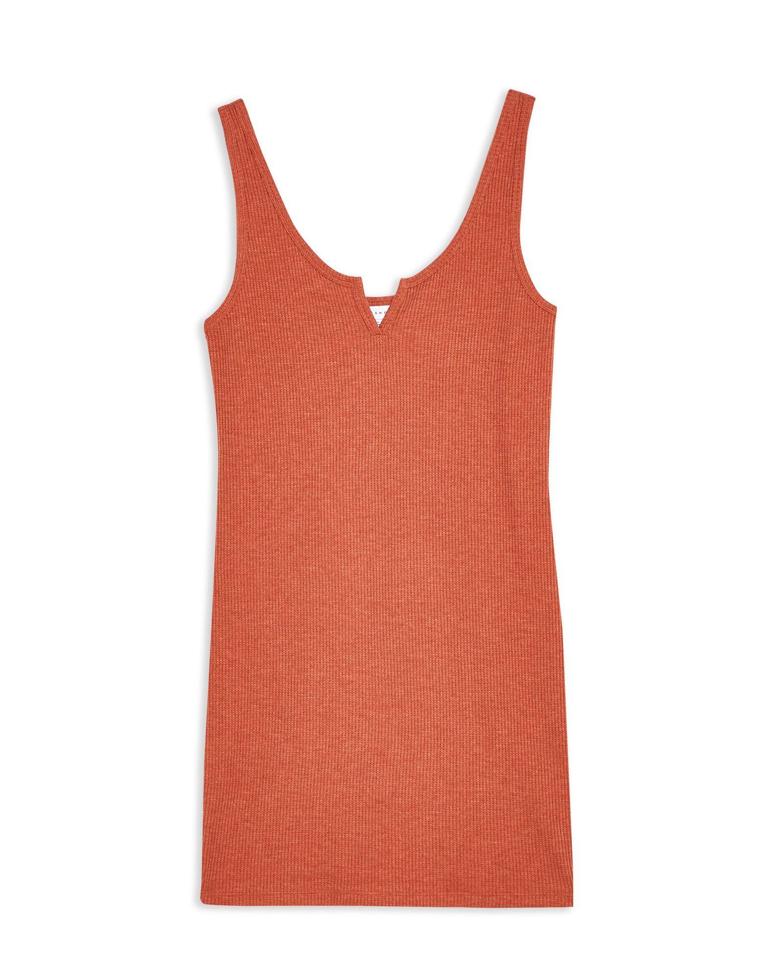 Vestito Vestito Vestito Corto Topshop Rust Waffle Notch Bodycon Dress - donna - 34974013DK 967