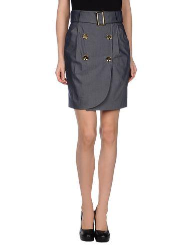 GIULIANO FUJIWARA Knee Length Skirt in Dark Blue