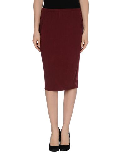READY TO FISH BY ILJA Knee Length Skirts in Maroon