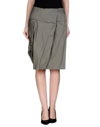 MALLONI Knee Length Skirt in Military Green