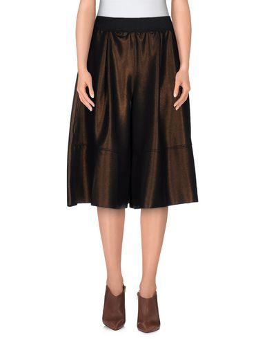 JIJIL Knee Length Skirt in Khaki