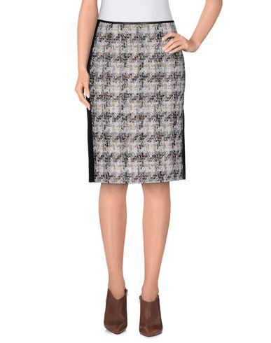 REED KRAKOFF Knee Length Skirt in Light Grey
