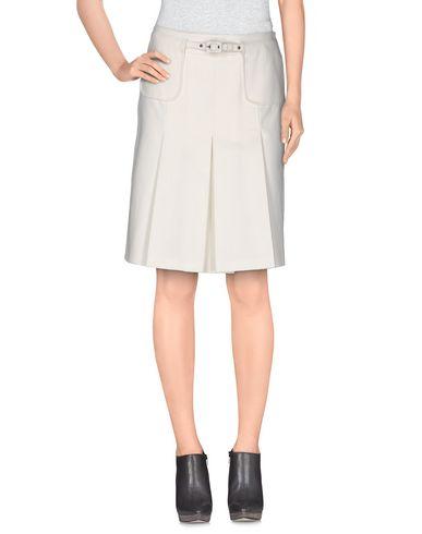 MAURIZIO PECORARO Knee Length Skirt in White