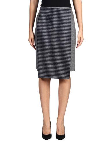 SUNO Knee Length Skirt in Grey