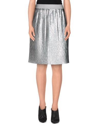BRIAN DALES Knee Length Skirt in Silver