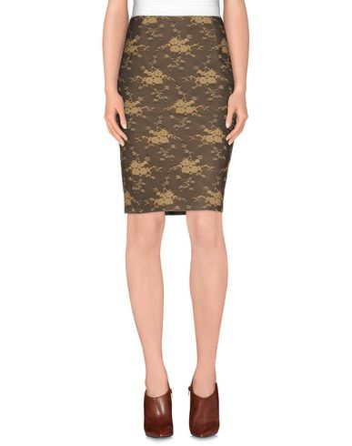 GIO' GUERRERI Knee Length Skirt in Khaki