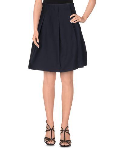 ARTHUR ARBESSER Knee Length Skirt in Dark Blue